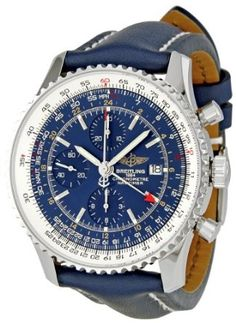 Mooi sportief horloge Breitling Navitimer World Blue Dial Chronograph Mens Watch Breitling Navitimer, Breitling Superocean Heritage, Breitling Watches, Best Watches For Men, Fine Watches, Men's Watches, Cool Watches, Fashion Watches, Shopping