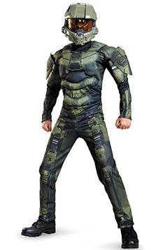Disguise Master Chief Classic Muscle Costume, Small (4-6) >>> To view further for this item, visit the image link.