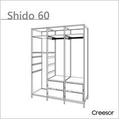 尺寸: 寬152cm x 深64cm x 高204cm 材質: 鋁合金 產地: 台灣製造