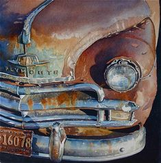 "Watercolor ""Plymouth"" by artist Joel Johnson on Florida Watercolor Society page"