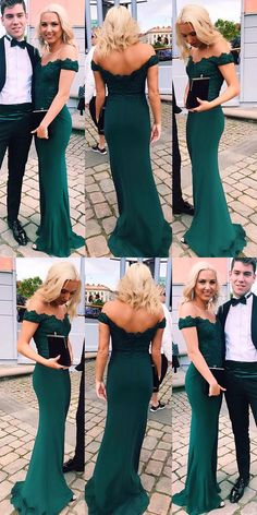 Emerald Green Evening Dress,Sexy Woman Prom Dresses, Lace Prom Dress by MeetBeauty, $136.99 USD