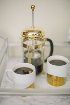 I need these coffee cups - and coffee press - in my life!!!!!!