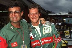 1991 - A new talent burst onto F1 scene, Michael Schumacher is spotted by Benetton's boss Flavio Briatore at SPA where he qualifies 7th and suffers a clutch failure when leaving the line. He will start the next race at Monza with the team. Pictured, Schumi and Eddie Jordan.