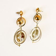 70s Tin Globe Earrings
