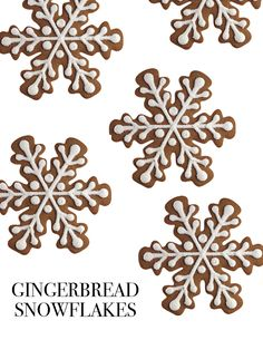 Gingerbread Snowflakes | Martha Stewart Living - This seven-inch flake, prettier than a gingerbread house or a gingerbread man, is big enough to share -- but who really wants to?