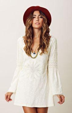 Breezy Boho Perfection.  Bell Sleeve Mini Dress. Wildheart by Eternal Sunshine.  Shopplanetblue.com.