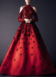 Prom dresses long with sleeves - 30 Stylist Fall Wedding Guest Dresses Ideas – Prom dresses long with sleeves Prom Dresses Long With Sleeves, Dress Long, High Neck Formal Dress, High Neck Prom Dresses, Formal Gowns, Long Sleeve Gown, Fantasy Dress, Mode Inspiration, Beautiful Gowns