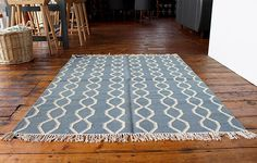 Rope Rug (Blue/Winter White) - WARINGS Store  Available on http://www.waringsathome.co.uk/for-the-home/rugs.html?limit=all