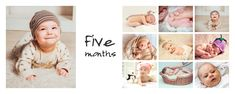 Inspiration spread for your baby photo album. Created with Moments Designer.