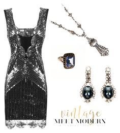 """""""Art Deco New Years Eve"""" by vintagemeetmodern ❤ liked on Polyvore"""
