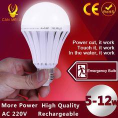 LED Intelligente Birne E27 7 Watt 9 Watt 12 Watt Led Notlicht Akku Beleuchtung Lampe für Außenbeleuchtung Bombillas Taschenlampe