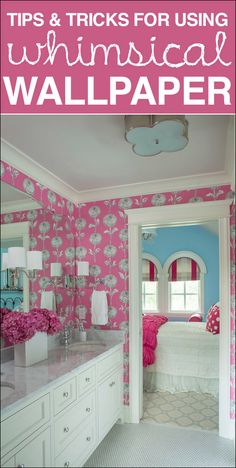 Great tips and tricks and inspiration for using whimsical wallpaper.