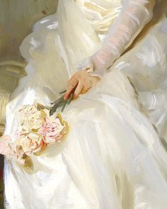 The Joy of Life, Mrs. Joshua Montgomery Sears (detail) ~ John Singer Sargent.