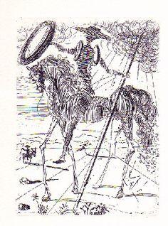 Don Quixote by Salvador Dalí