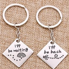 Honey Bee Matching Keychain for Couples | Long distance relationship gifts for him