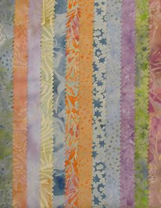 Pastel Easter Spring Variety Batik  12 Fat by TheKittyQuilter, $21.00