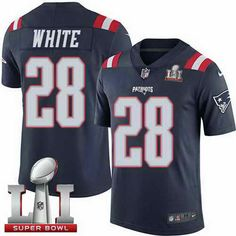 Nike Men s Patriots  28 James White Navy Blue Super Bowl LI 51 Stitched NFL  Limited 3347338fc
