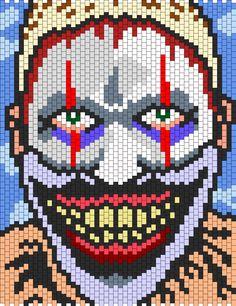Kandi Patterns: Twisty The Clown From American Horror Story Freak Show Bead Pattern