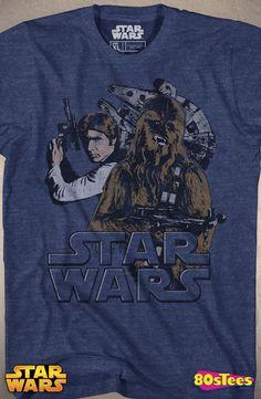Star Wars Millennium Falcon Pilots T-Shirt: Star Wars Mens T-Shirt