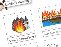 Simple Great Fire of London Sequencing… Great Fire Of London, The Great Fire, Activity Games, Activities, Classroom Displays, Classroom Ideas, Key Stage 1, Inspired Learning, London History