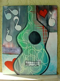 Abstract Guitar Paintings Abstract guitar painting with