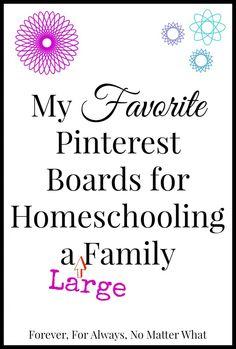 Homeschooling a Large Family http://foreverforalwaysnomatterwhat.com/2015/01/pinterest-homeschooling-large-family.html