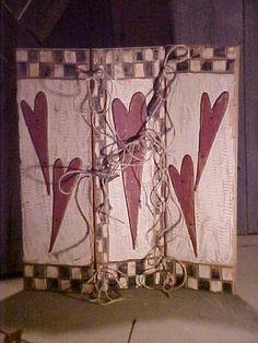 Primitive Heart Fireplace Screen . #fireplacescreen #valentine . ebay.com