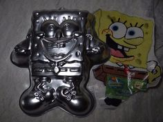 Wilton Cake Pan Treat Mold w/Instructions Sponge Bob #WiltonCakePan