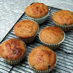 Muffins de banana e mirtilo @ allrecipes.com.br