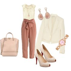 Young and pretty work outfit, created by ocosto on Polyvore