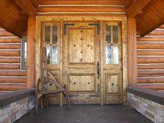 Rustic custom Entry (knotty alder) door.... Love this door (minus the stars)!!