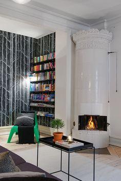Un apartamento de 80 m2 donde se mezclan 3 estilos #hogarhabitissimo #nordic #vintage #chimenea