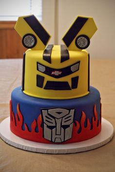 Nino Transformers Cake Mas 6th Birthday Parties