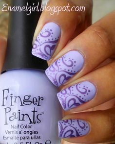 Love the swirly pattern, and purple.