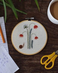 Modern Embroidery, Embroidery Art, Snails, Stitching, Sewing, Instagram, Costura, Dressmaking, Couture