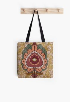 Flower ornamintation tote bag Redbubble