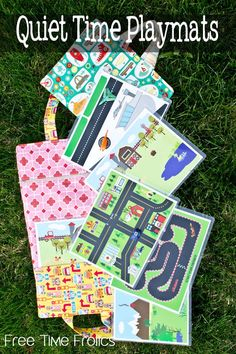 Quiet Time Printable playmats for kids! Simple independent play mats for preschoolers and toddlers