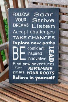 Graduation Gift Wood Sign, Custom Graduation Gift, Inspirational Sign, New Job Gift, Inspirational Quote