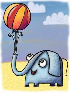 El pulpo con lápiz - ilustración infantil