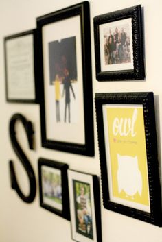 Bedroom Inspiration: Wall Photo Collage