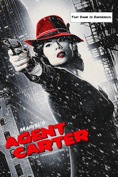 I saw the new Agent Carter promo poster and it just screamed Sin City movie style to me. The red lipstick and hat are just killer on Hayley Atwell. Agent Peggy Carter a la Sin City Bd Comics, Marvel Dc Comics, Marvel Comic Books, Marvel Movies, Agent Carter Tv Series, Chris Evans, Sin City Movie, Avengers, Comic Book Collection