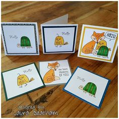 Super sweet 3 inch cards created with Handmade card with Close To My Heart Some Kinda Wonderful - Cardmaking stamp set