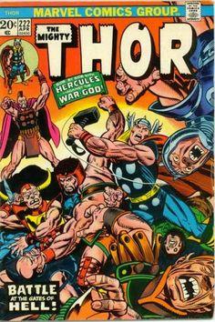 Thor #222. Hercules. Cover by Hercules.