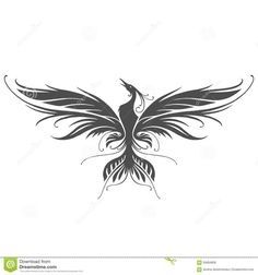 Illustration about Phoenix silhouette in vector on white background. Illustration of illustration, logo, abstract - 60684828 Forearm Wing Tattoo, Angle Wing Tattoos, Fairy Wing Tattoos, Butterfly Wing Tattoo, Wing Tattoo Men, Wing Tattoos On Back, Wing Tattoo Designs, Phoenix Tattoo Design, Phoenix Design