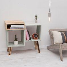 Large Sideboard – White / Nature – alt_image_three - Home Decor Small Furniture, Pallet Furniture, Furniture Design, White Sideboard, Large Sideboard, Wood Shelving Units, Wood Shelves, Pallet Shelves, Diy Home Decor
