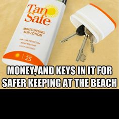 Great tip for the beach! :)