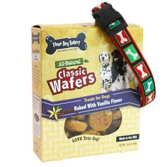 Celebrate the holiday in style with our Holiday Collar and Cookie Gift Set. Guaranteed to make them feel good inside and out! This gift set includes a durable, stylish Christmas Bone Collar and a box of our pup-ular, soft-baked vanilla wafer cookies. Coming #Holiday2013