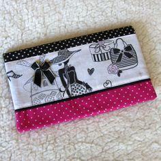 carnet de sac r tro la parisienne en tissu tissu noir pois r tro. Black Bedroom Furniture Sets. Home Design Ideas