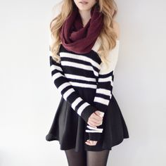 Striped Cropped Knit Pullover