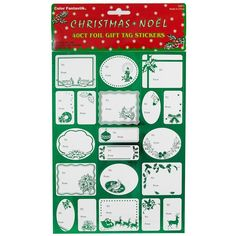 JAM Paper® Foil Christmas Gift Tag Stickers - Green - 40/pack -- You can find out more details at the link of the image.